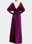 Purple Thigh Split Wrap Maxi Dress