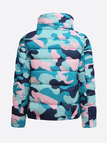 Camouflage Pattern Crew Neck Causal Padded Outerwear