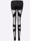 Black Sexy Mesh Design Bodycon Leggings