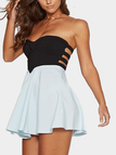 Strapless Mini Dress in Aqua