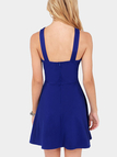 Cross Chest Hollow Out Strapless Backless Halter Dress