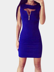 Cut Out Sleeveless Mini Dress with Zipper Details