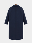 Guilted Duster Coat in Navy
