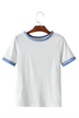 White Round Neck Simple T-shirt
