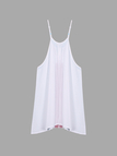 White Loose Sheer Embroidery Pattern Sleeveless Mini Dress