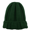 Green Fluffy Turn Up Rib Beanie