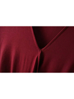 V-neck Cross Front Top in Burgundy