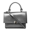 Grey Fashion PU Leather Handle Bag