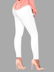 White Side Pockets High-waisted Leggings