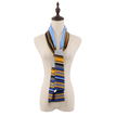 Retro Scarf with Geometrical Pattern