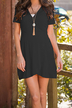 Wrap Front Mini Dress in Black