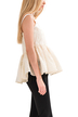 Paisley Ruffled Hem Cami Top In Beige
