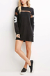 Casual Boyfriend Style Mesh Patchwork Number 99 Print Dress