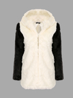 Panda Hooded Artificial Fur Coat