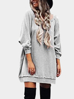 Grey Casual Loose Round Neck Sweatshirt