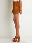 Ginger Suede Mini Skirt