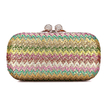 Knotting Clutch Bag in Multicolor