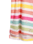 Multicolor Stripe High Low Hem T-shirt