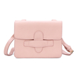 Pink Leather-look Magnetic Closure Shoulder Bag