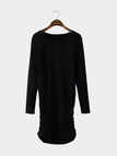 Black Long Sleeve Knitted Dress