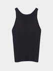 Black Hollow Out Vest