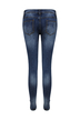 Distressed Stretch Jeans In Washed Blue