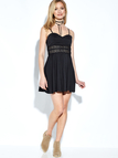 Hollow Out Cami Mini Dress in Black