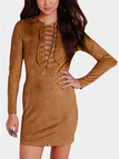 Lace Up Suedutte Dress