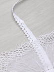 White Sexy Lace Details Bralette without Falsies