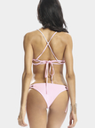 Lace Up Bikini Set in Pink