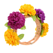 Open Type Yellow and Purple Colors Flower Bride Bracelets
