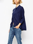 Loose Casual 3/4 Length Sleeves Buttons design Shirt