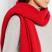 Red Casual Minimalism Knit Warmth Scarf