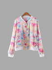 Casual White Edge Multi Colors Thin Jacket