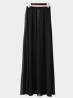 Boho High-rise Open Front Maxi Skirts in Black