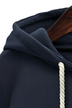 Plus Size Stylish Stripe Sleeve Hoodie In Navy