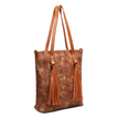 Brown Tassel Embellished Shoulder & Across Body Bag