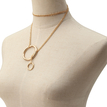 Fashion Metal Ring Chain Pendant Necklace