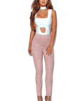 Pink Fashion Suede Bodycon Pants