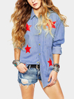 Star Pattern Casual Shirt In Street style