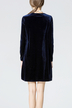 Navy Crew Collar Swing Dress