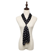 Polka Dot Pleated Lightweight Scarf in Black