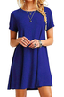 Royal Blue Round neck Mini Dress