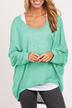 Green Loose Women Casual Blouse