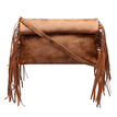Brown Fashion Clutch Bag with Tassel Embellished
