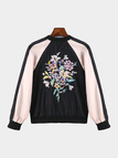 Embroidery Pattern Jacket In Sports Style