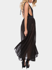 Stretch Waistband Tulle Maxi Skirt