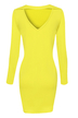 Yellow Tunic Dress With Cutout Back Detail