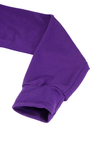 Plain Purple Color Hooded Pocket Sweatshirt