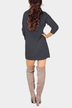Dark Grey High Neck Long Sleeves Knit Casual Dress